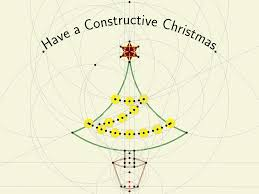 how can we draw a christmas tree with decorations using tikz