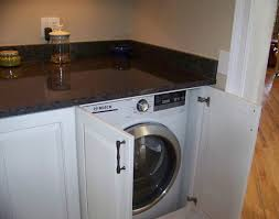 How To Hide Washer And Dryer by Stow Away With Custom Cabinets Plain U0026 Fancy Cabinetry