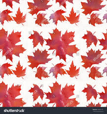 orange maple leaf pattern abstract watercolor stock illustration