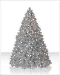 7 5 ft silver tinsel tree clear lit tree tree market