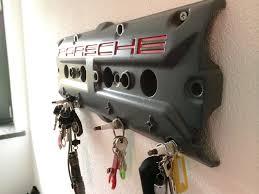 porsche garage art diy porsche key holder made of old valve cover the daily nerdism
