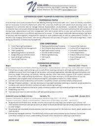 event coordinator resume 100 images event planner free resume