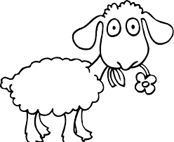 lovely sheep coloring page 30 for your free colouring pages with