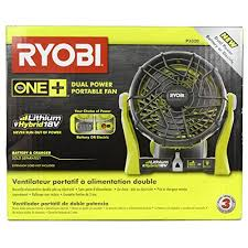 ryobi fan and battery ryobi 18 volt 120 volt one plus hybrid fan bare tool onl https