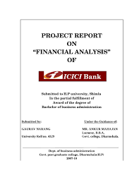 sample of acknowledgement letter for project report project report on financial analysis of icici bank by sanjay gupta project report on financial analysis of icici bank by sanjay gupta issuu