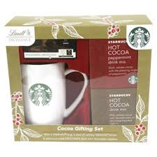 hot chocolate gift set buy starbucks cocoa lindt chocolate gift set from our novelty