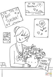happy teacher u0027s day coloring page free printable coloring pages
