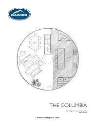 the columbia yurt floor plan little dream house pinterest the columbia yurt floor plan