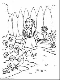 extraordinary alice in wonderland rabbit coloring pages with alice