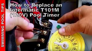 how to replace an intermatic t101m 120v pool timer youtube