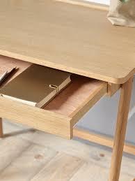 Schreibtisch Lang Und Schmal Cyrillus Schreibtisch Für Erwachsene In Natur Weiß