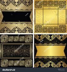 set vector vintage luxury decorative frames stock vector 715009201