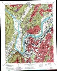 map of chattanooga tn chattanooga topographic map tn usgs topo 35085a3