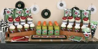 football baby shower end zone football ba shower theme bigdotofhappiness throughout