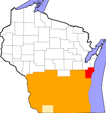 Counties In Wisconsin Map by File Map Of Wisconsin Highlighting Counties Presidentially