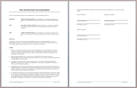 5 partnership agreement template word outline templates
