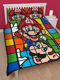 Mario Bros Bed Set Nintendo Mario Brothers Retro Panel Duvet Cover