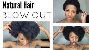 quick u0026 easy blow out on short natural hair youtube