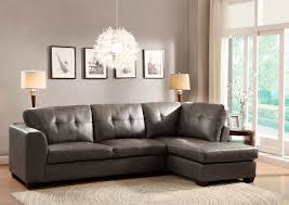 Grey Leather Tufted Sofa by Furniture Extraordinary Ideas Of Gray Sectional Sofa With Chaise