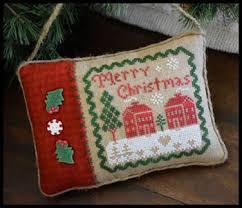 house needleworks merry christmas pillow cross stitch