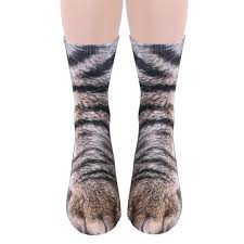 realistic cat and dog paw socks the green head