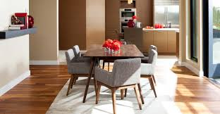 2x gray dining chair in brown wood upholstered article chanel