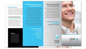 office brochure templates tri fold brochure template for dentist dental office order custom