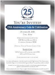 25 Wedding Anniversary Invitation Cards Sfhs At 25 Sfhs At 25