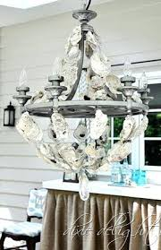 Coconut Shell Chandelier How To Make Coconut Shell Chandelier Seashell Chandelier Diy