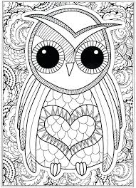 coloring page for adults owl coloring pages for adults print free owl coloring pages for adults