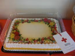 thanksgiving themed cake red cross of central illinois