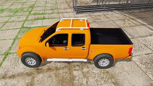 yellow nissan truck frontier pro 4x crew cab d40 2012 for farming simulator 2017