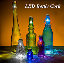 Originality Light Cork Shaped Rechargeable Usb Bottle Light Bottle