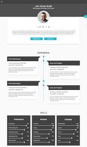 Best Resume Font And Size 2017 by 15 Best Html Resume Templates For Awesome Personal Sites