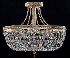 Crystal Flush Mount Ceiling Light Fixture by Ceiling Light Majestic Collection Crystal Wide Ceiling Light