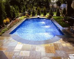 enchanting mosaic tiles for modern small swimming pool design and