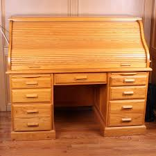 contemporary oak roll top desk with by nathan hale ebth decor 4