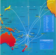 Easyjet Route Map by Airline Memorabilia Air Pacific 1999