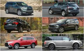 types of suvs triplicate three row mid size crossovers and suvs ranked from