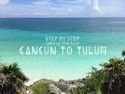 taking the from cancun to tulum