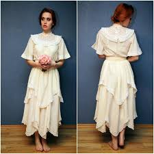 vintage lace and silk wedding dress bride lace dress marriage