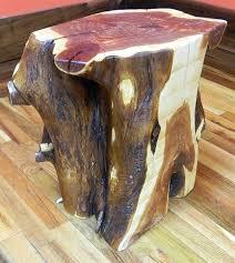tree trunk end table stump end table modern stump side table painted furniture tree stump