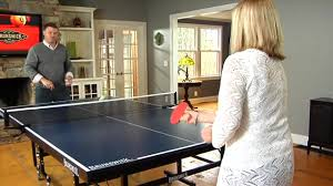 ping pong table playing area brunswick xc5 table tennis table raquo game room video gallery
