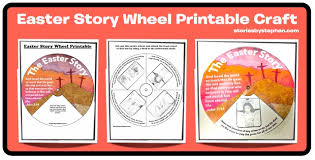 easter story wheel printable craft stories by stephen