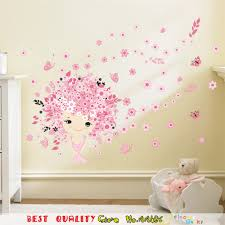 pink flower fairy waterproof wall stickers plum blossom wall art pink flower fairy waterproof wall stickers plum blossom wall art decals kids room decoration baby