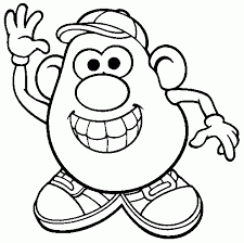 potato head coloring pages aecost net aecost net