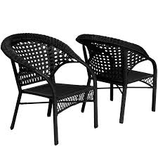 have to have it maria black all weather wicker fan back outdoor