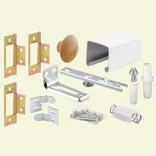 Home Depot Sliding Closet Door Track Prime Line 24 In Bi Fold Closet Door Track Kit 164684 The Home