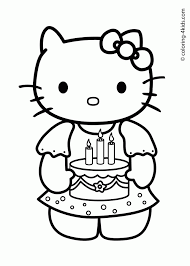 hello kitty birthday card printable free coloring home