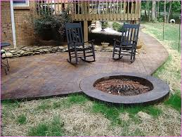 patio fire pits simple concrete patio with fire pit designs to design